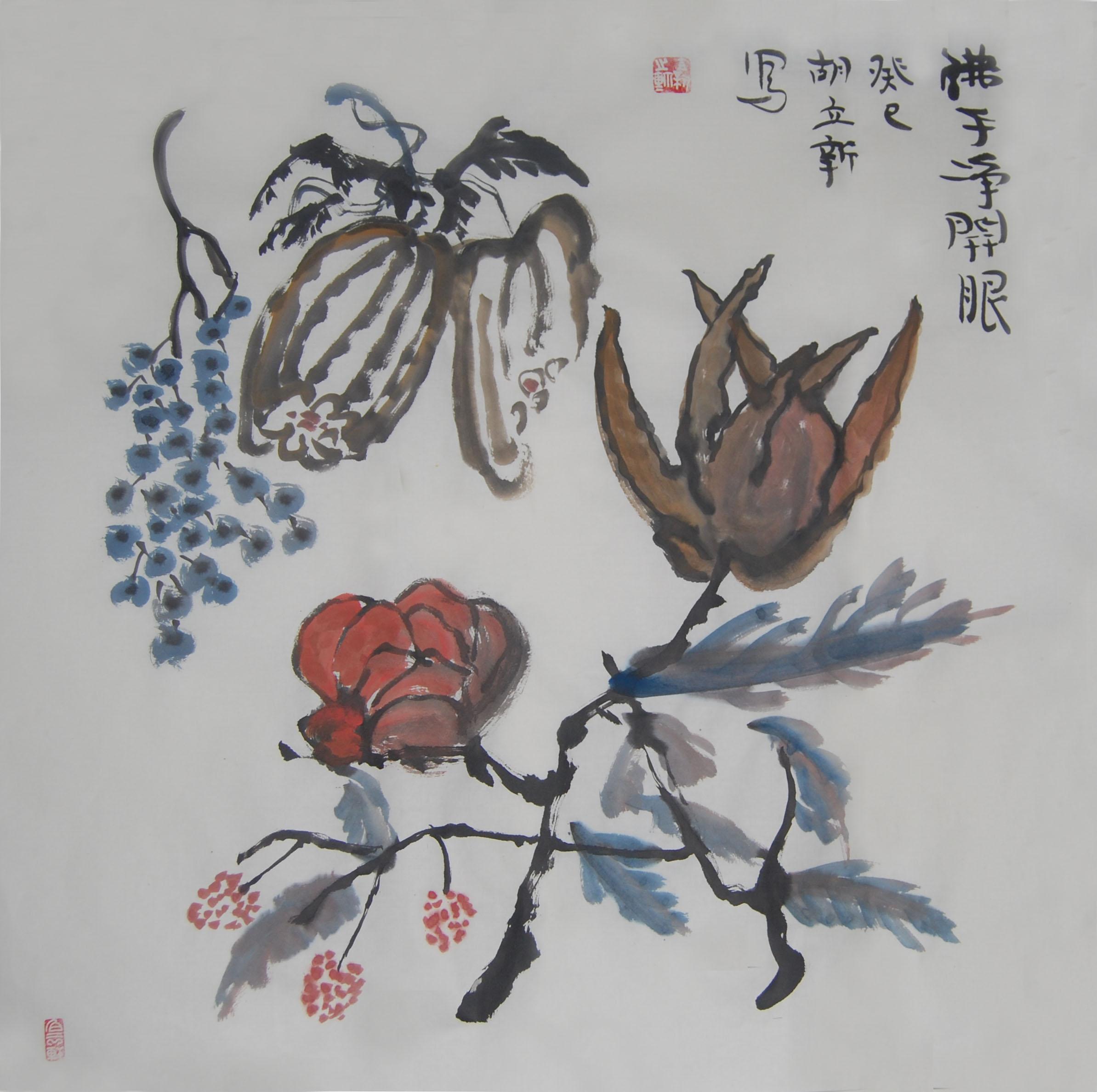 水墨佛手纹身手稿分享展示